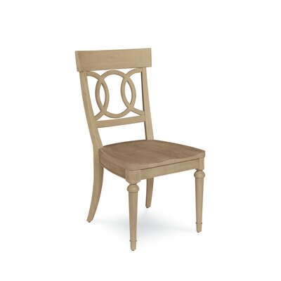 Carrie Wood Dining Chair (Set of 2) Color: Light Oak