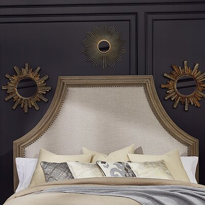Carolin Upholstered Panel Headboard Size: Queen, Color: Light Oak