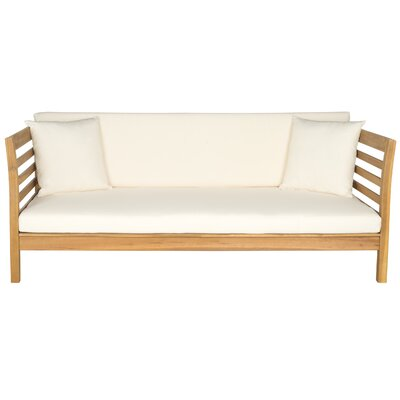 Douglasville Daybed Color: Teak Brown/Beige