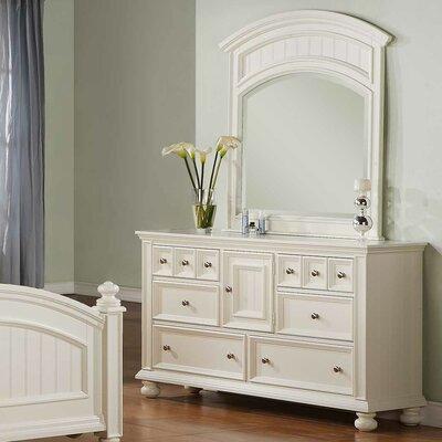 Miami Springs 6 Drawer Standard Dresser Finish: White
