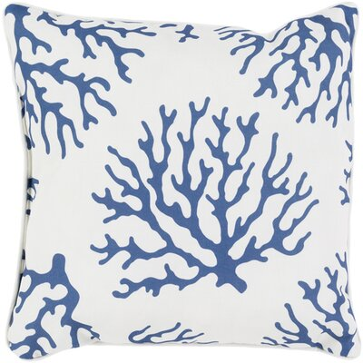 Calburn Outdoor Throw Pillow Size: 16 H x 16 W x 4 D, Color: Cobalt