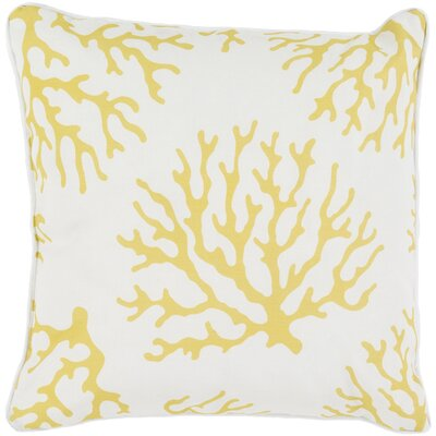 Calburn Outdoor Throw Pillow Size: 16 H x 16 W x 4 D, Color: Yellow