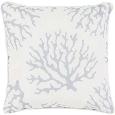 Calburn Outdoor Throw Pillow Size: 16 H x 16 W x 4 D, Color: Light Gray