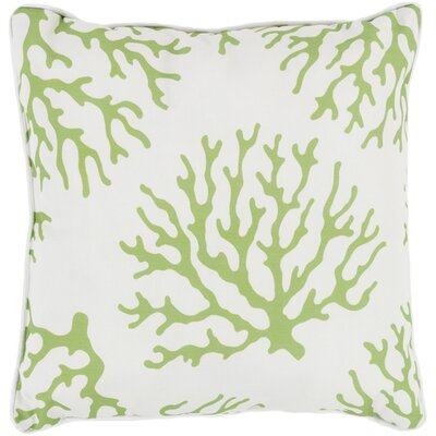 Calburn Outdoor Throw Pillow Size: 20 H x 20 W x 4 D, Color: Lime