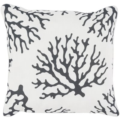 Calburn Outdoor Throw Pillow Size: 20 H x 20 W x 4 D, Color: Black