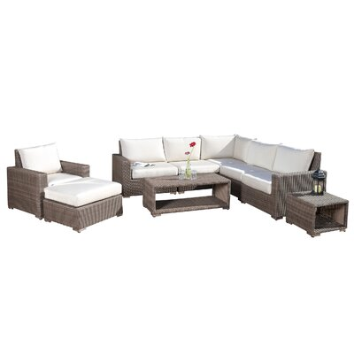 Coleridge Outdoor 9 Piece Deep Seating Group with Cushion