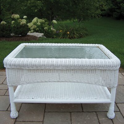 Kingsmill Rectangle Coffee Table Finish: White