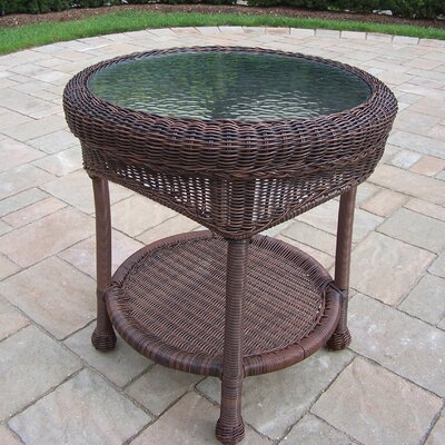 Kingsmill Wicker Side Table Finish: Coffee