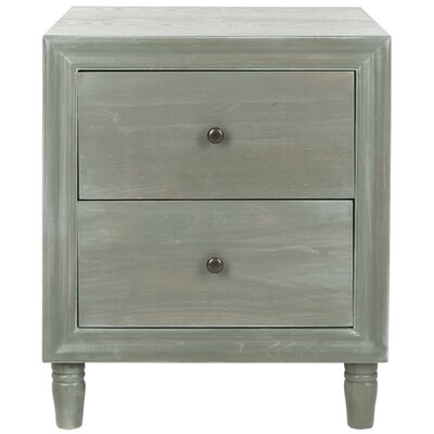 Plainville 2 Drawer Nightstand Color: French Grey