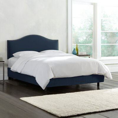 Mystere Nail Button Upholstered Panel Bed Size: Queen, Color: Eclipse