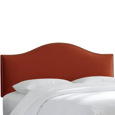 Mystere Nail Button Upholstered Panel Headboard Size: Twin, Upholstery: Hacienda