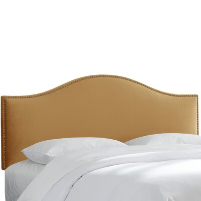 Hendry Nail Button Upholstered Panel Headboard Size: Twin, Upholstery: Moccasin