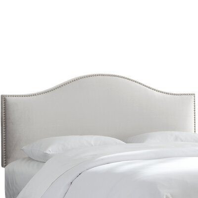 Hendry Nail Button Upholstered Panel Headboard Size: Full, Upholstery: Dove