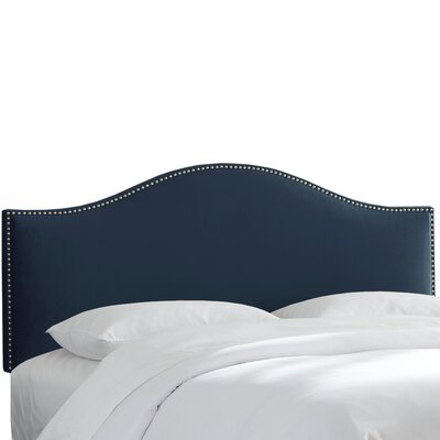 Mystere Nail Button Upholstered Panel Headboard Upholstery: Eclipse, Size: California King