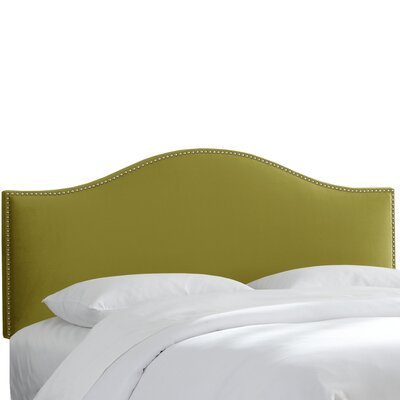 Mystere Nail Button Upholstered Panel Headboard Size: King, Upholstery: Macaw