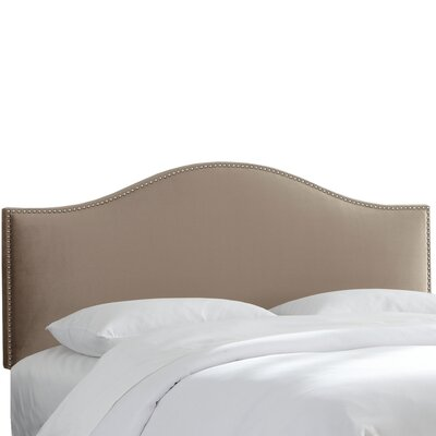 Hendry Nail Button Upholstered Panel Headboard Size: King, Upholstery: Mondo