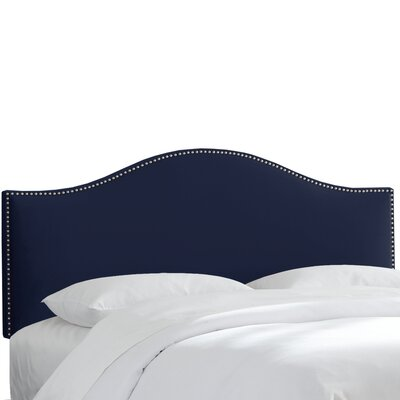 Regal Upholstered Panel Headboard Size: King, Upholstery: Navy