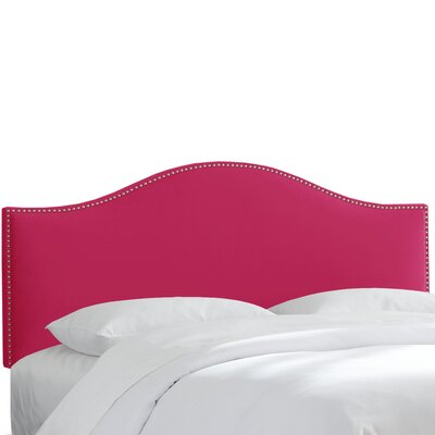 Regal Upholstered Panel Headboard Size: King, Upholstery: Sangria