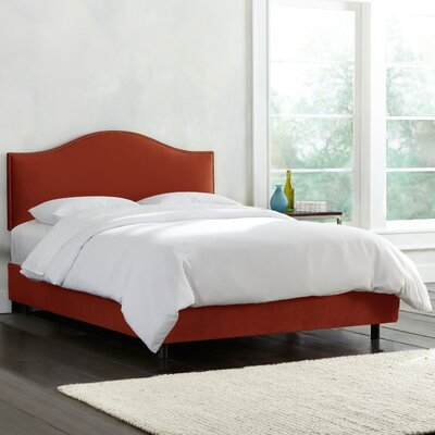 Mystere Nail Button Upholstered Panel Bed Size: Twin, Color: Hacienda