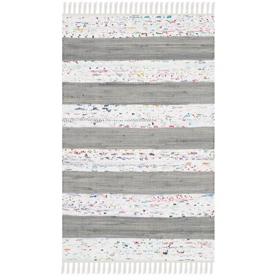 Aureliana Ivory/Gray Area Rug Rug Size: Rectangle 8' x 10'