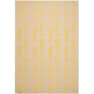 Lake Park Beige/Yellow Indoor/Outdoor Area Rug Rug Size: Rectangle 67 x 96