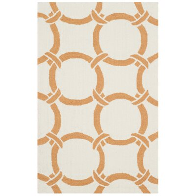 Hadriana Ivory/Brown Indoor/Outdoor Area Rug Rug Size: Rectangle 5 x 8