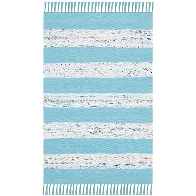 Aureliana Ivory/Turquoise Area Rug Rug Size: Rectangle 26 x 4