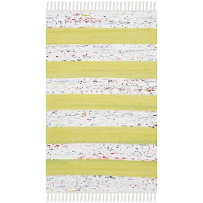 Aureliana Ivory/Light Green Area Rug Rug Size: Rectangle 4 x 6