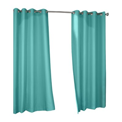 Ponce de Leon Creek Top Indoor/Outdoor Single Curtain Panel