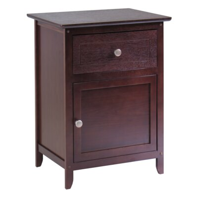 Gallinas 1 Drawer Nightstand Finish: Antique Walnut