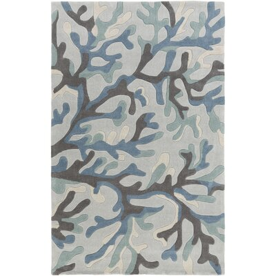 Cherrywood Hand-Tufted Blue/Brown Area Rug Rug Size: 5 x 8