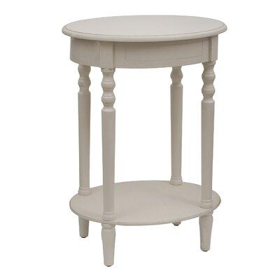 Crestmont End Table Color: Antique White