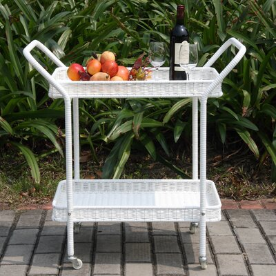 Petherton Serving Cart Finish: White