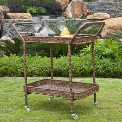 Petherton Serving Cart Finish: Honey