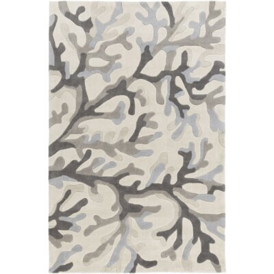 Cherrywood Light Gray/Magenta Area Rug Rug Size: 5 x 8