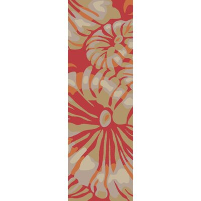 Maarten Hot Pink/Burnt Orange Indoor/Outdoor Area Rug Rug Size: Runner 26 x 8
