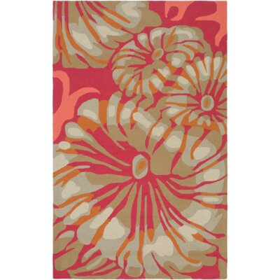 Maarten Hot Pink/Burnt Orange Indoor/Outdoor Area Rug Rug Size: 2 x 3