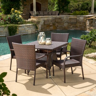Geren 5 Piece Dining Set