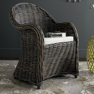 Mustique Armchair Upholstery: Black Wash