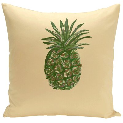Truesdell Decorative Throw Pillow Size: 18 H x 18 W, Color: Lemon