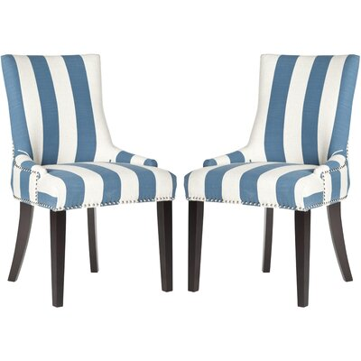 Gowanus Dining Chair Upholstery: Blue / White Stripe