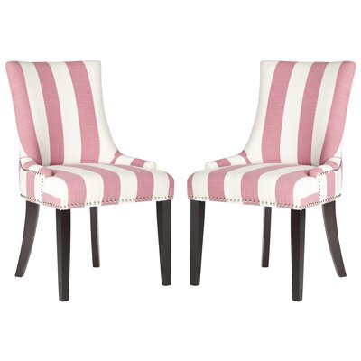 Gowanus Dining Chair Upholstery: Pink / White Stripe