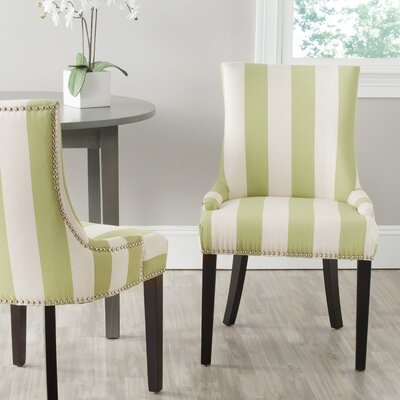 Gowanus Dining Chair Upholstery: Green / White Stripe