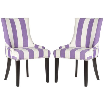 Gowanus Dining Chair Upholstery: Lavender / White Stripe