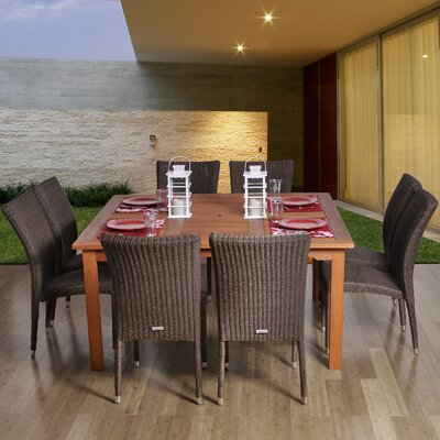 Ariyah 9 Piece Indoor/Outdoor Dining Set