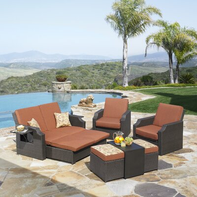 Wu 4 Piece Deep Seating Group with Cushions