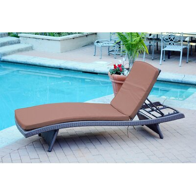 Friendship Harbor Chaise Lounge with Cushion Cushion Color: Cocoa Brown, Finish: Espresso