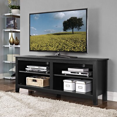 Sunbury 58 TV Stand with Optional Fireplace Color: Black, Fireplace Included: No