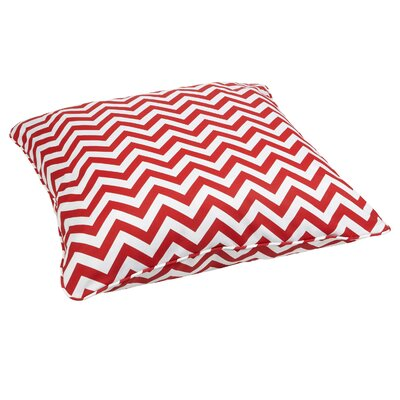 Truesdell Indoor/Outdoor Euro Pillow Fabric: Chevron Red