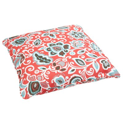 Seafarer Indoor/Outdoor Euro Pillow Fabric: Floral Coral